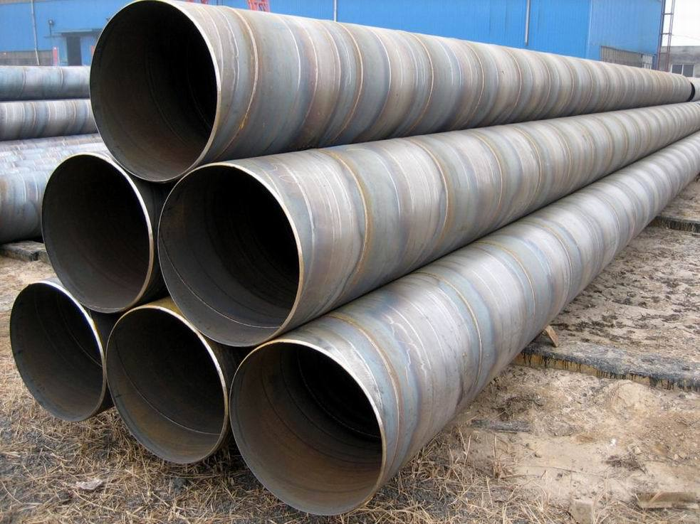 Welded Steel Pipes : Double faced spiral arc merged welded steel pipe